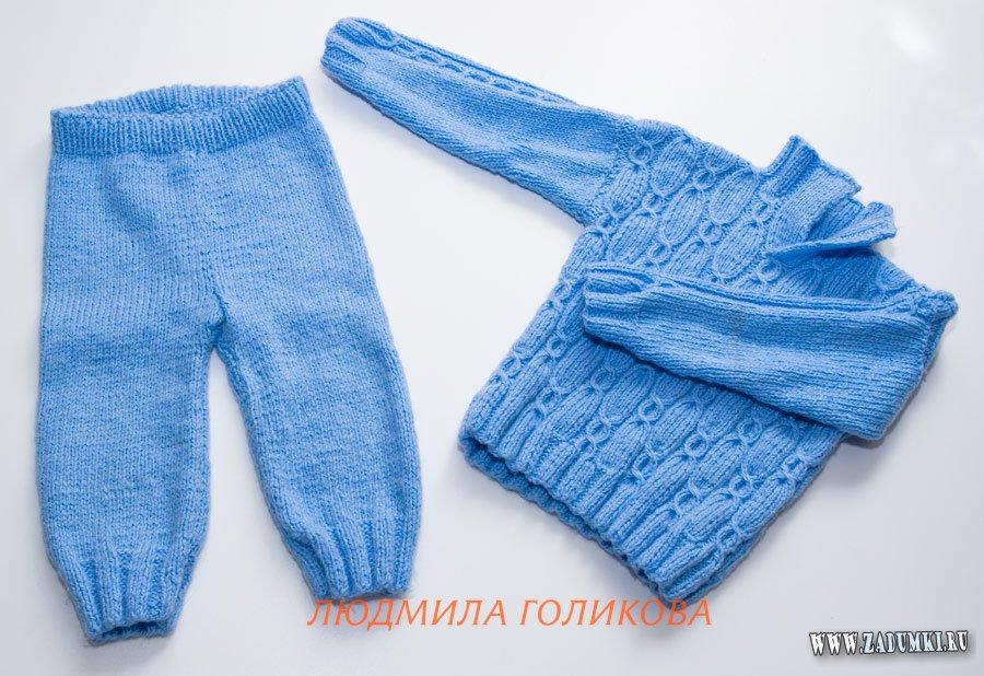 как связать штанишки спицами схемы