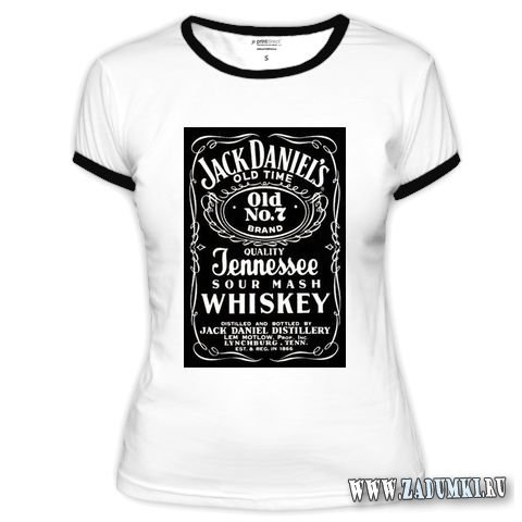 "Футболка Jack Daniel's = Hand made одежды  "" Hand."